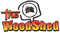 The WoodShed Mobile Wood-Fired Pizza Logo